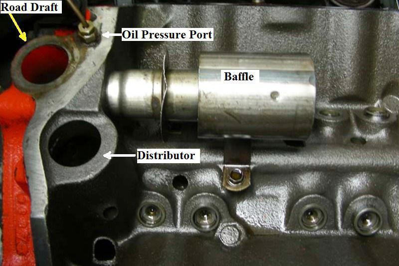 327 chevy engine pcv valve location