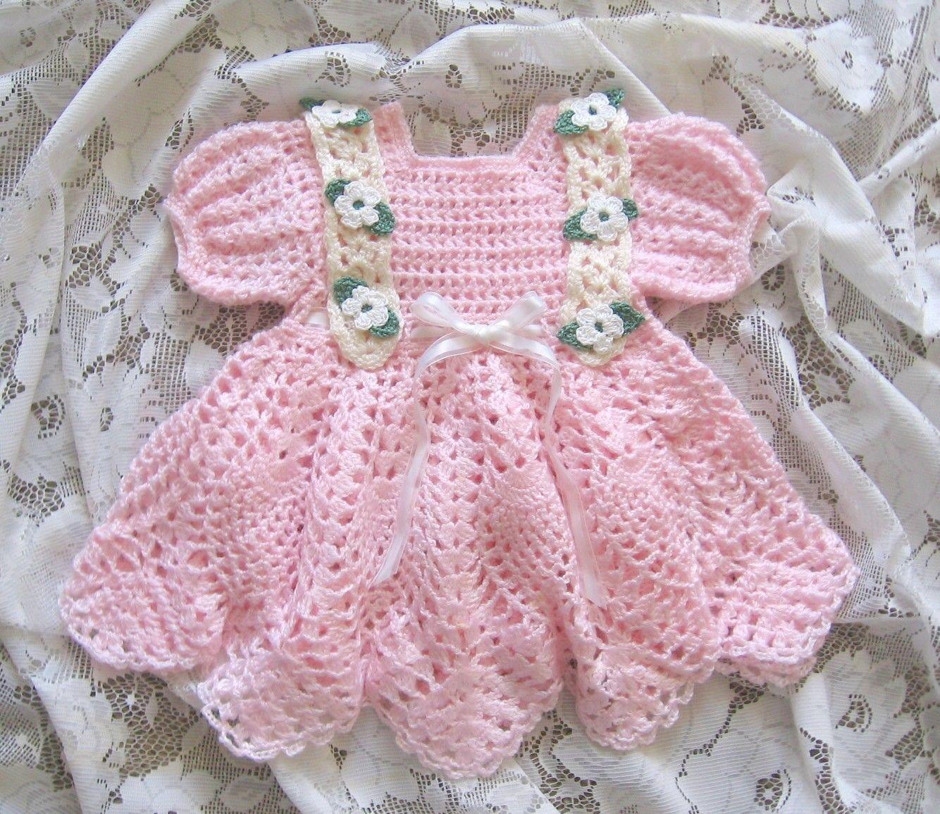 Baby Dresses To Crochet Patterns : CROCHET PATTERN for