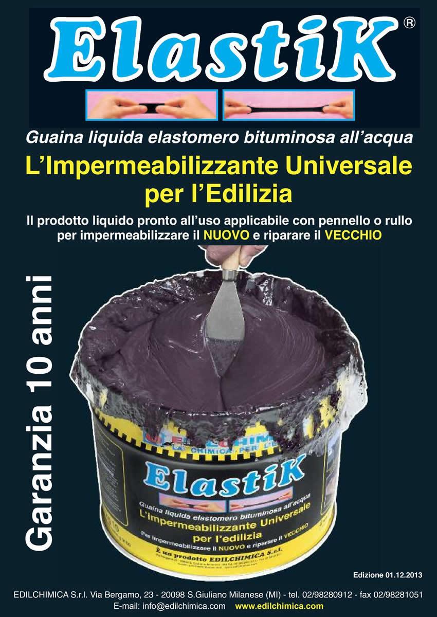 Elastik guaina liquida prezzo boiserie in ceramica per bagno for Guaina liquida trasparente mapei