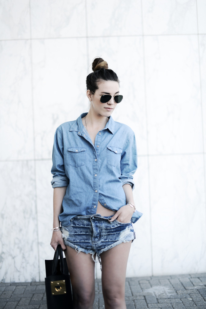 One Teaspoon Denim Shirt WEARING ONE TEASPOON DENIM
