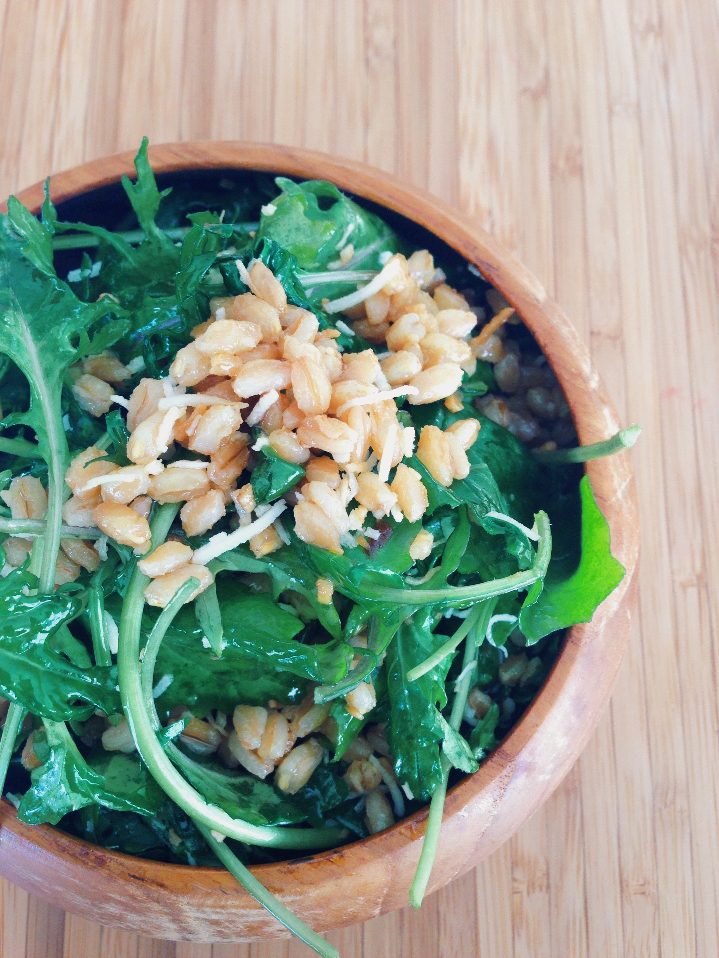toasted coconut and kale salad