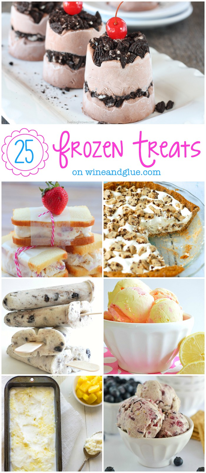 25 Frozen Treats on wineandglue.com