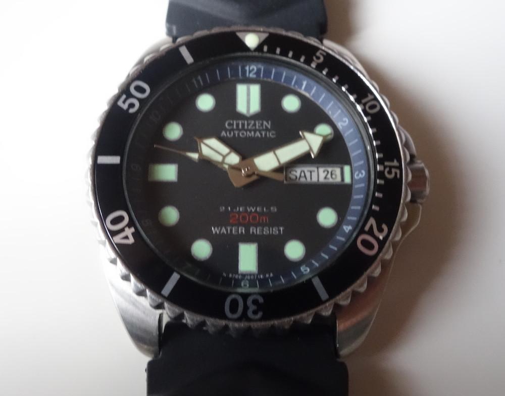 montre plong e automatique citizen gn4s tanche 200m diver 39 s watch ebay. Black Bedroom Furniture Sets. Home Design Ideas