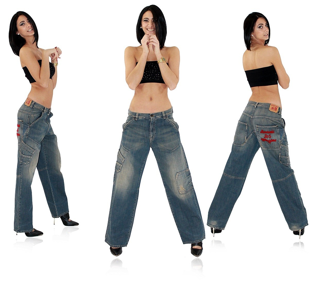 replay sons damen jeans hose used look vintage weit. Black Bedroom Furniture Sets. Home Design Ideas