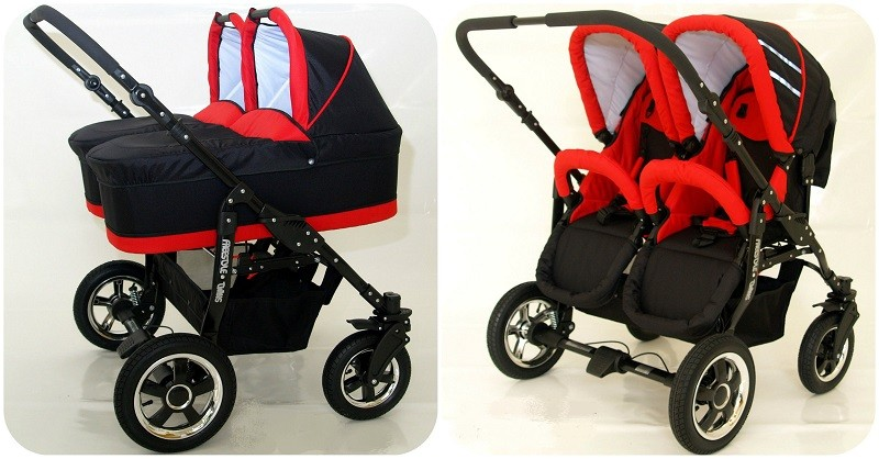 freestyle zwillinge 3in1 kinderwagen babytragetasche sweet baby viele farben ebay. Black Bedroom Furniture Sets. Home Design Ideas
