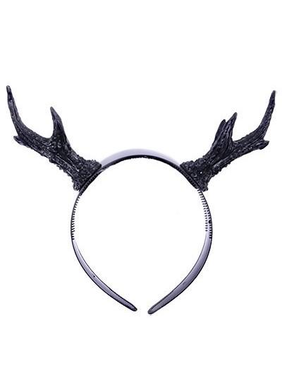deer antlers haarreif geweih reh h rner gothic haarschmuck. Black Bedroom Furniture Sets. Home Design Ideas