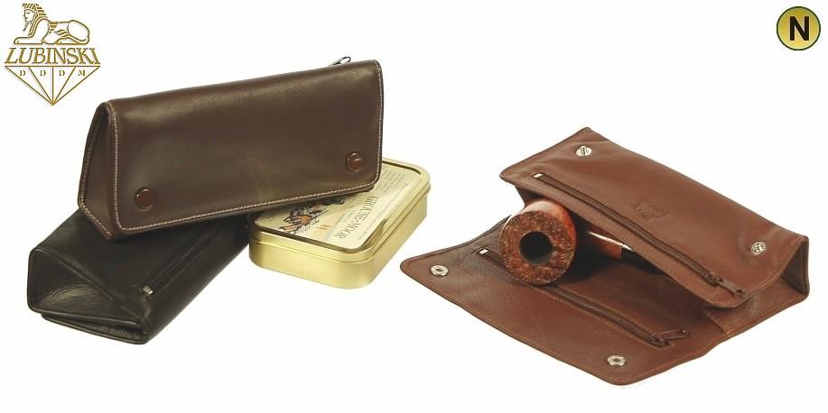 Porta pipa porta tabacco 2 pipe i708 in pelle lubinski 3 - Porta tabacco pipa ...