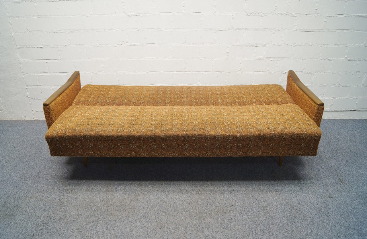 70er sofagarnitur sofa 2x sessel mit schlaffunktion. Black Bedroom Furniture Sets. Home Design Ideas