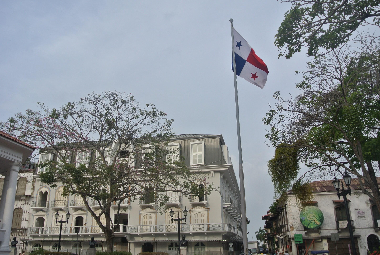 Panama's flag flying proudly in Casco Viejo, Panamá City.
