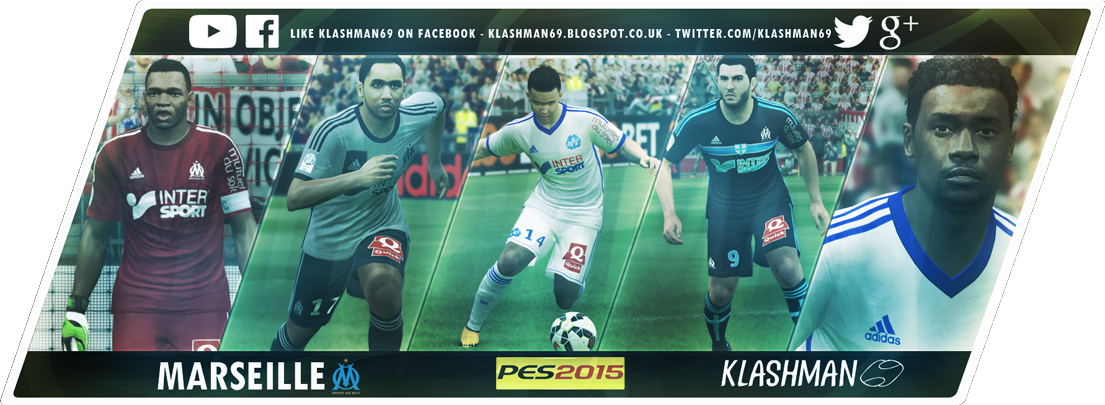 Download Olympique Marseille PES 2015 Kit Pack