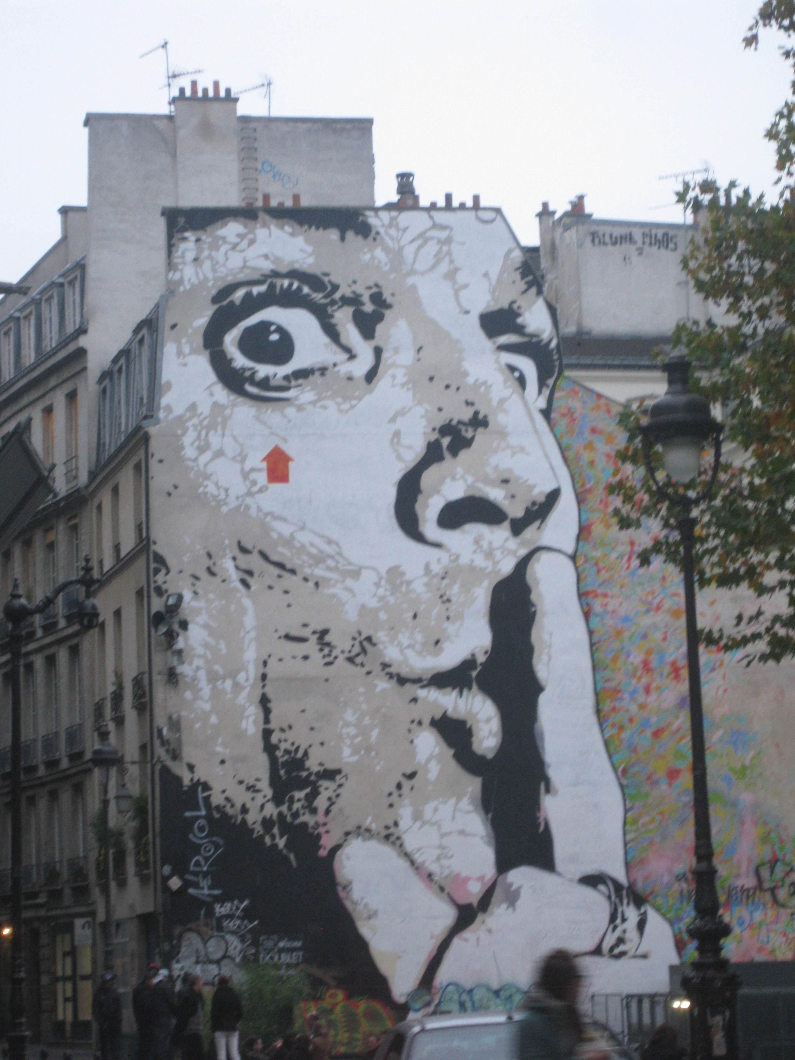 Paris Street Art Mural near Centre Pompidou