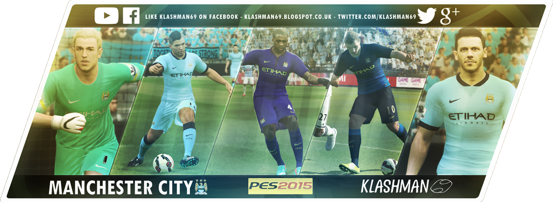 Download Manchester City PES 2015 Kit Pack