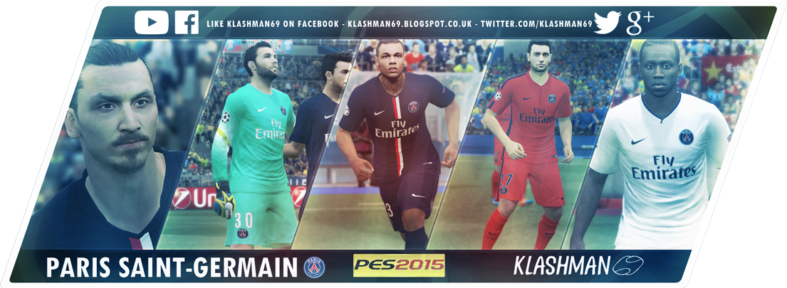 PES 2015 Paris Saint-Germain Kit pack