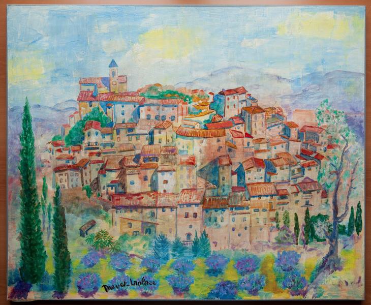 Drevet laplace tableau village sign ebay for Delta 0 tableau de signe