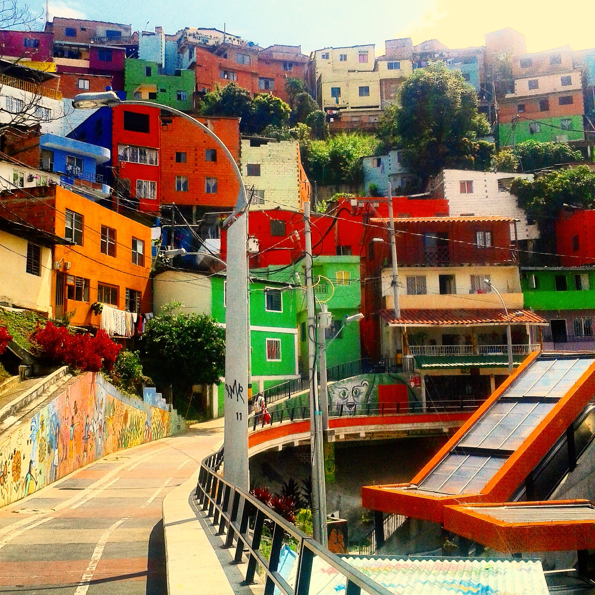 Comuna 13's Electric Escalators in Medellín, Colombia have to be seen.