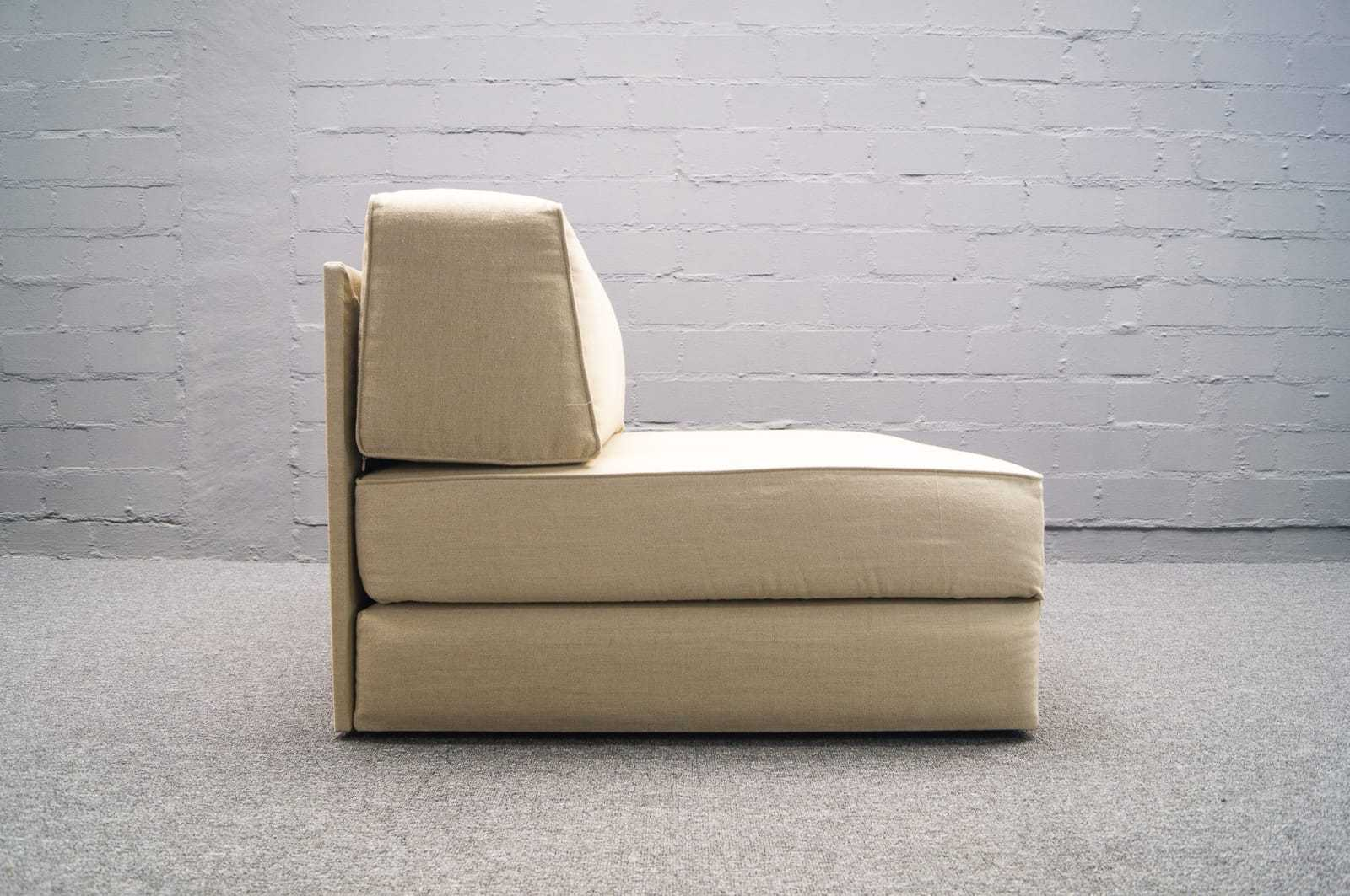 wohnform sessel daybed ausklappbar lounge chair 60er 70er g stebett bett 1v 2 ebay. Black Bedroom Furniture Sets. Home Design Ideas