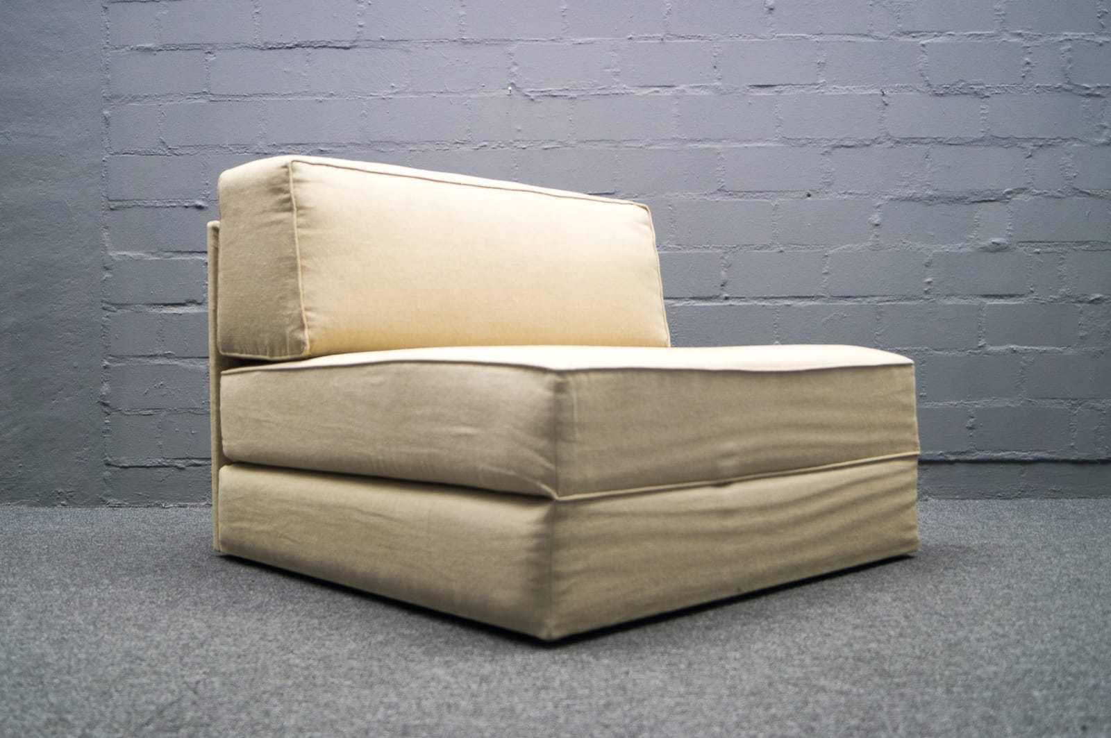 wohnform sessel daybed ausklappbar lounge chair 60er 70er g stebett bett 1v 2. Black Bedroom Furniture Sets. Home Design Ideas