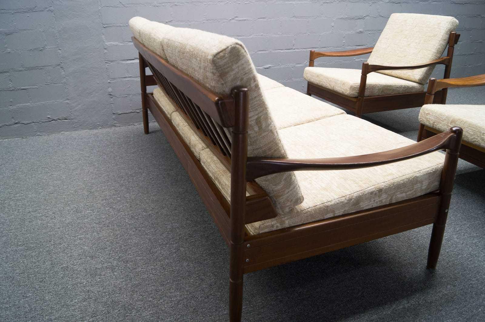 brasilianisch angehauchte sofagarnitur 2x sessel daybed ausziehbar 60er 70er ebay. Black Bedroom Furniture Sets. Home Design Ideas