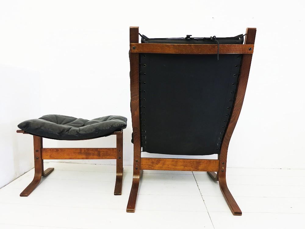 siesta leder sessel hocker design ingmar relling f r. Black Bedroom Furniture Sets. Home Design Ideas