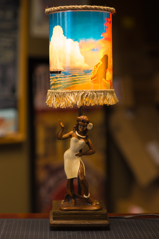 Joe vs the volcano inspired hula lamp updated tiki central the lamp shade doesnt turn like the movie version but i installed a little music box in the base that plays blue hawaii if anyones interested i can post aloadofball Image collections