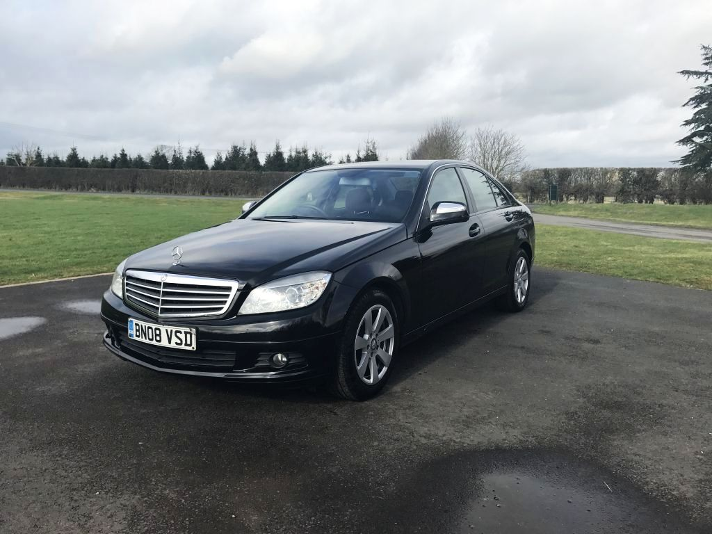 2008 mercedes c220 cdi se c class black fsh 2 2 turbo diesel c200 a4 320d ebay. Black Bedroom Furniture Sets. Home Design Ideas