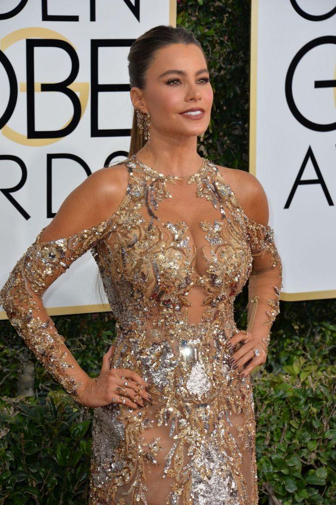 Sofia Vergara - 2017 Golden Globes Awards Pictures - Sexy Actress Pictures | Hot Actress Pictures