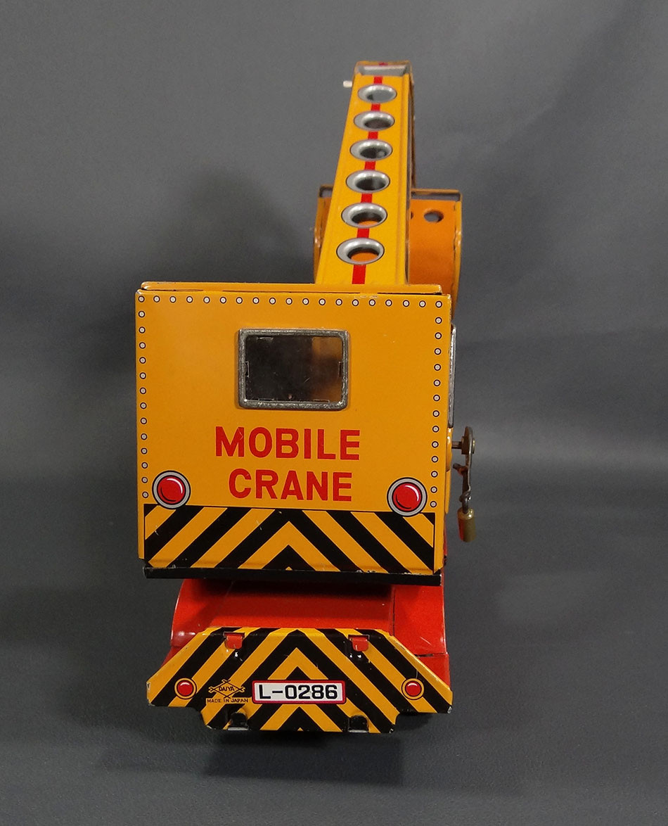 Mobile Crane Questions And Answers : Daiya tin toy japan friction mobile crane cab