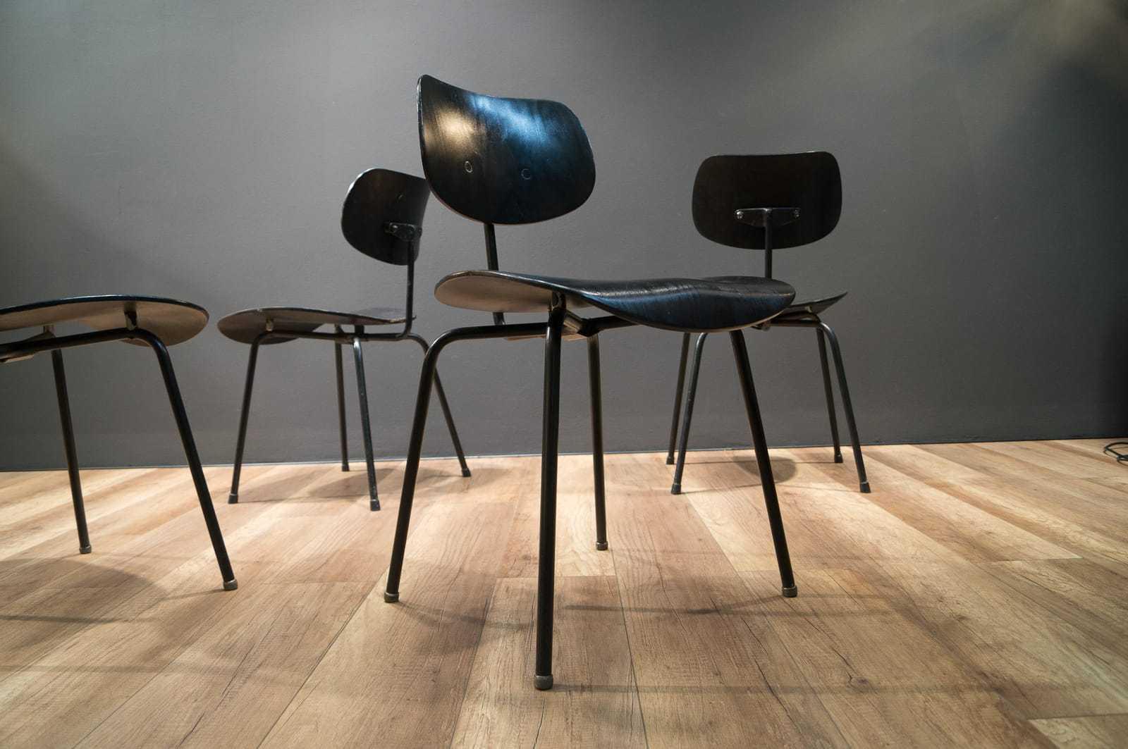 4er set wilde spieth st hle stuhl se68 egon eiermann se 68 chair ebay. Black Bedroom Furniture Sets. Home Design Ideas