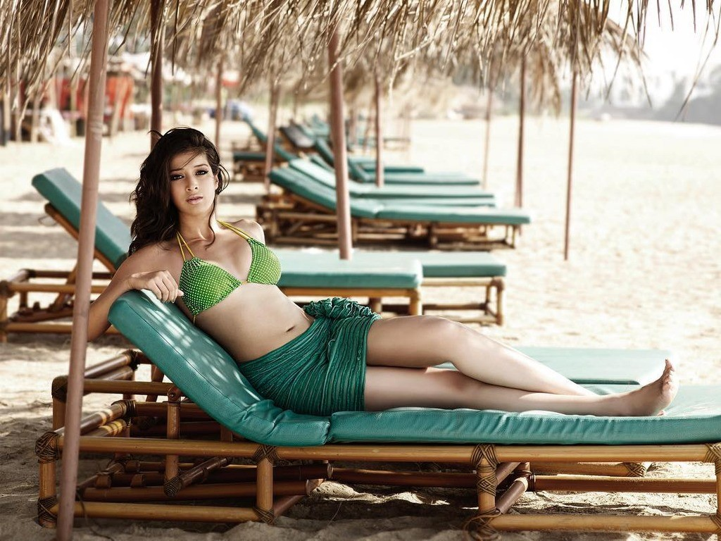 Actress Lakshmi Rai - Hot Beach Bikini Photos