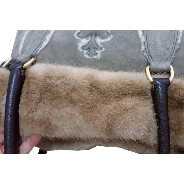 prada shearling leather tote
