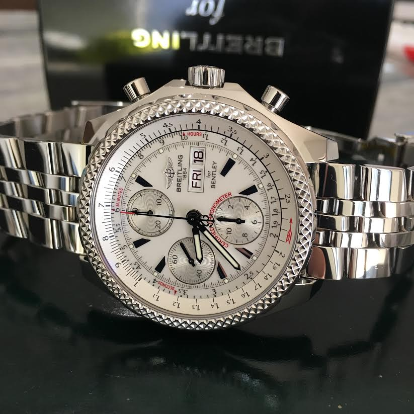 FS: BREITLING BENTLEY GT Chrono Stainless Silver Dial 45mm