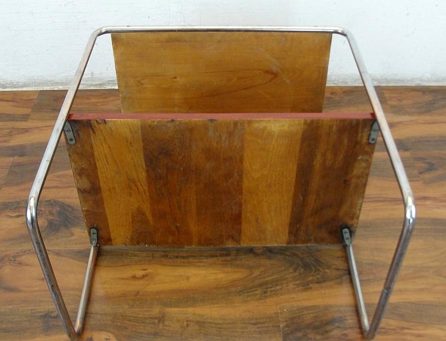 tisch stahlrohr chrom holz padouk mauser thonet design modern bauhaus art deco ebay. Black Bedroom Furniture Sets. Home Design Ideas