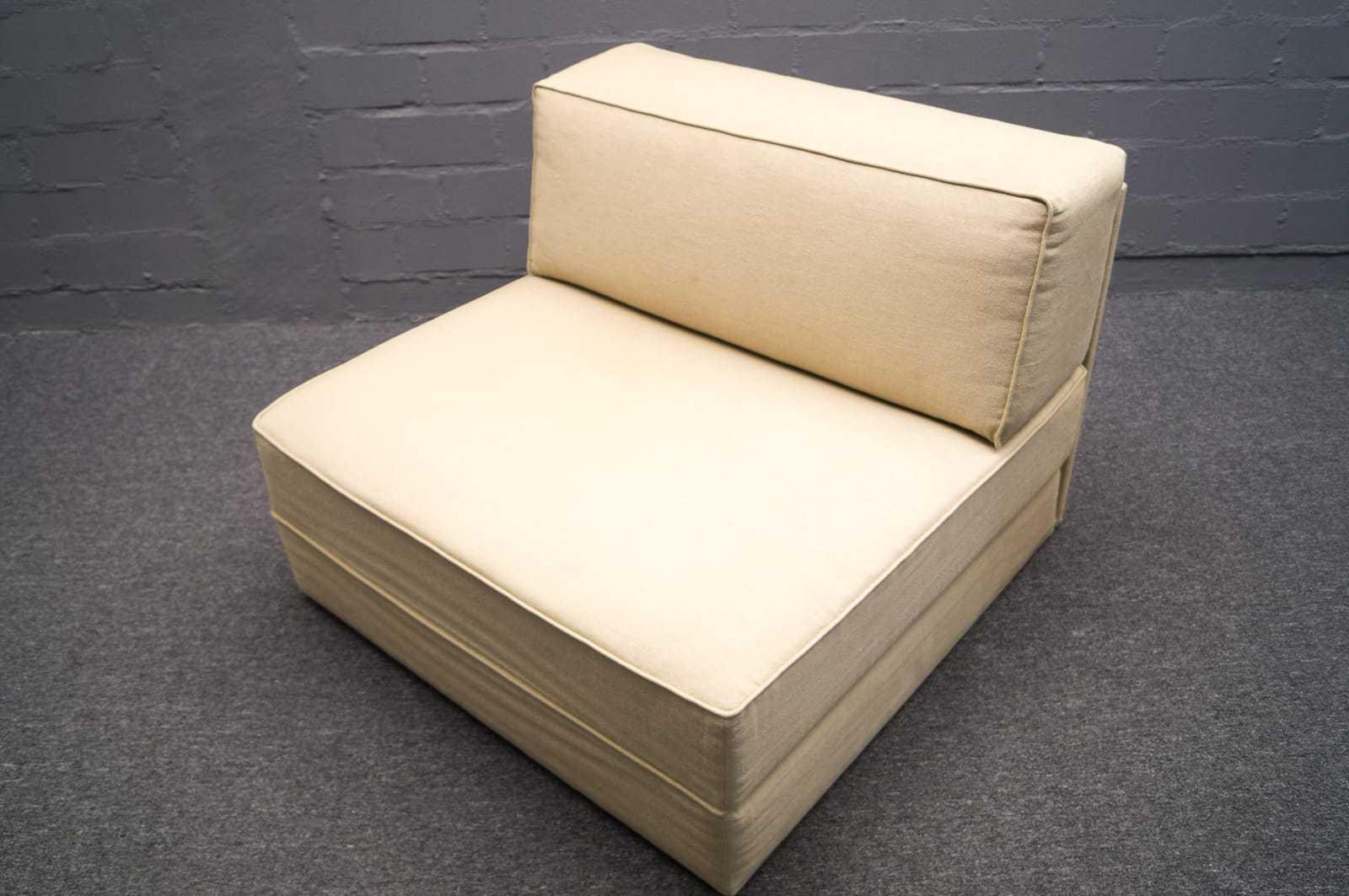 wohnform sessel daybed ausklappbar lounge chair 60er 70er g stebett bett 2v 2 ebay. Black Bedroom Furniture Sets. Home Design Ideas