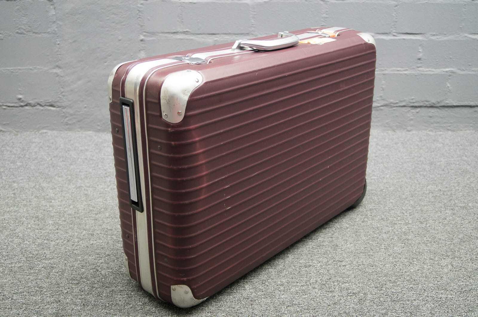 rimowa reisekoffer integral hartschale koffer auf rollen ebay. Black Bedroom Furniture Sets. Home Design Ideas