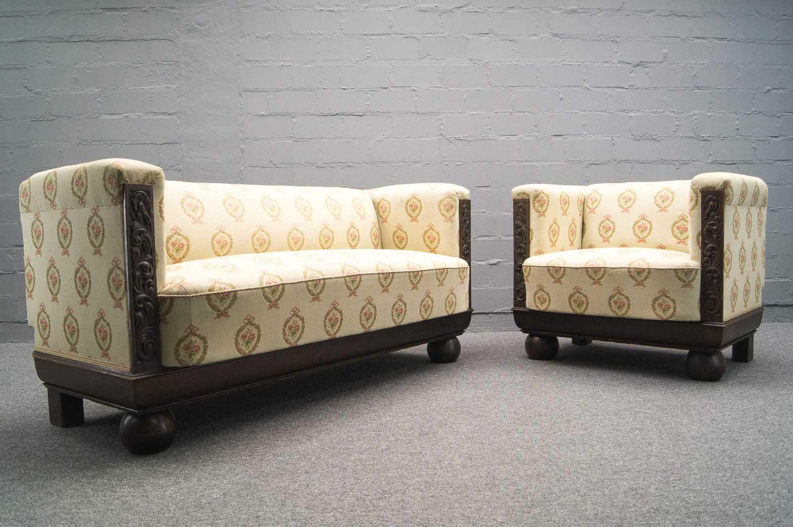 art deco sofagarnitur sofa sessel kubisch bauhaus kubus. Black Bedroom Furniture Sets. Home Design Ideas