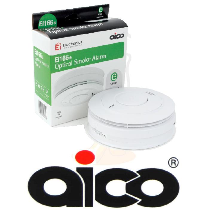 aico ei166e 10 year optical smoke fire alarm mains radiolink wireless ebay. Black Bedroom Furniture Sets. Home Design Ideas
