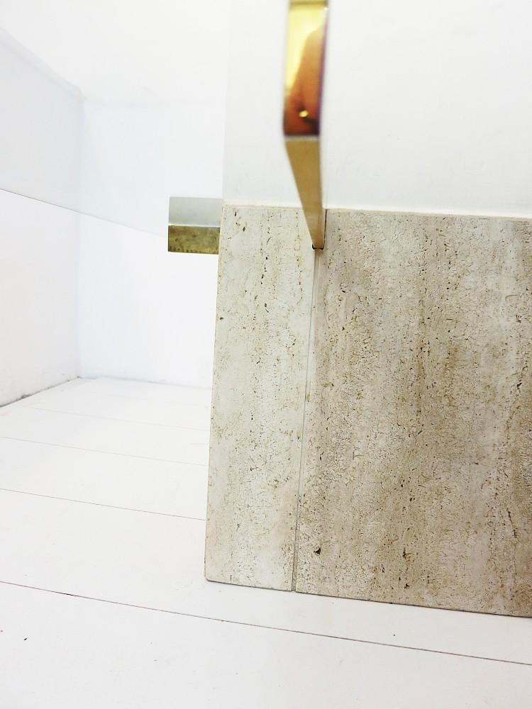 Travertin couchtisch coffee table artedi 70er jahre design for Couchtisch aus travertin