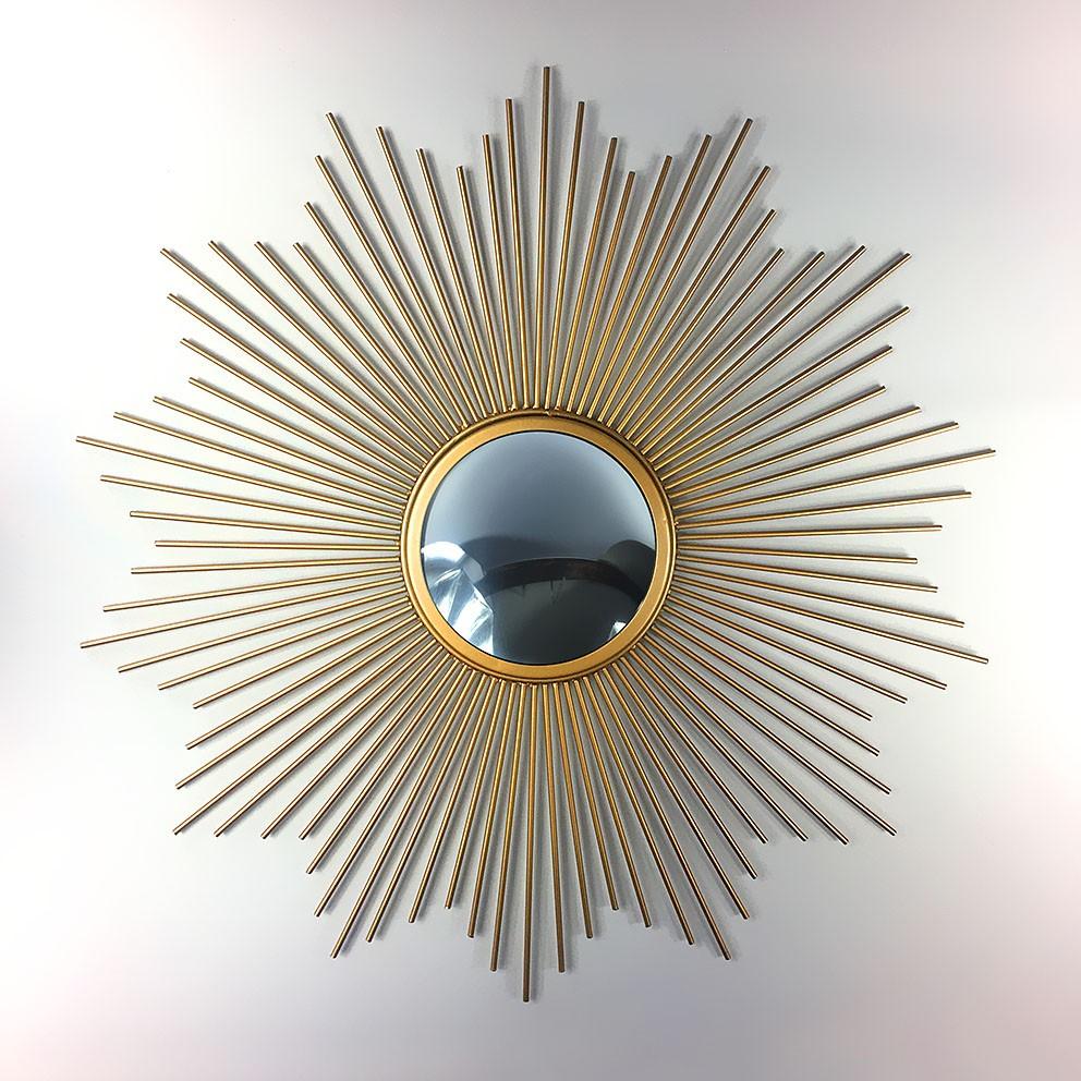 Miroir soleil bomb sorci re metal sunburst convex mirror for Miroir bombe rond