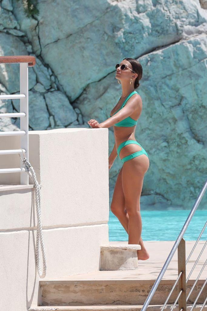 Emily Ratajkowski Seen in Bikini at Cannes