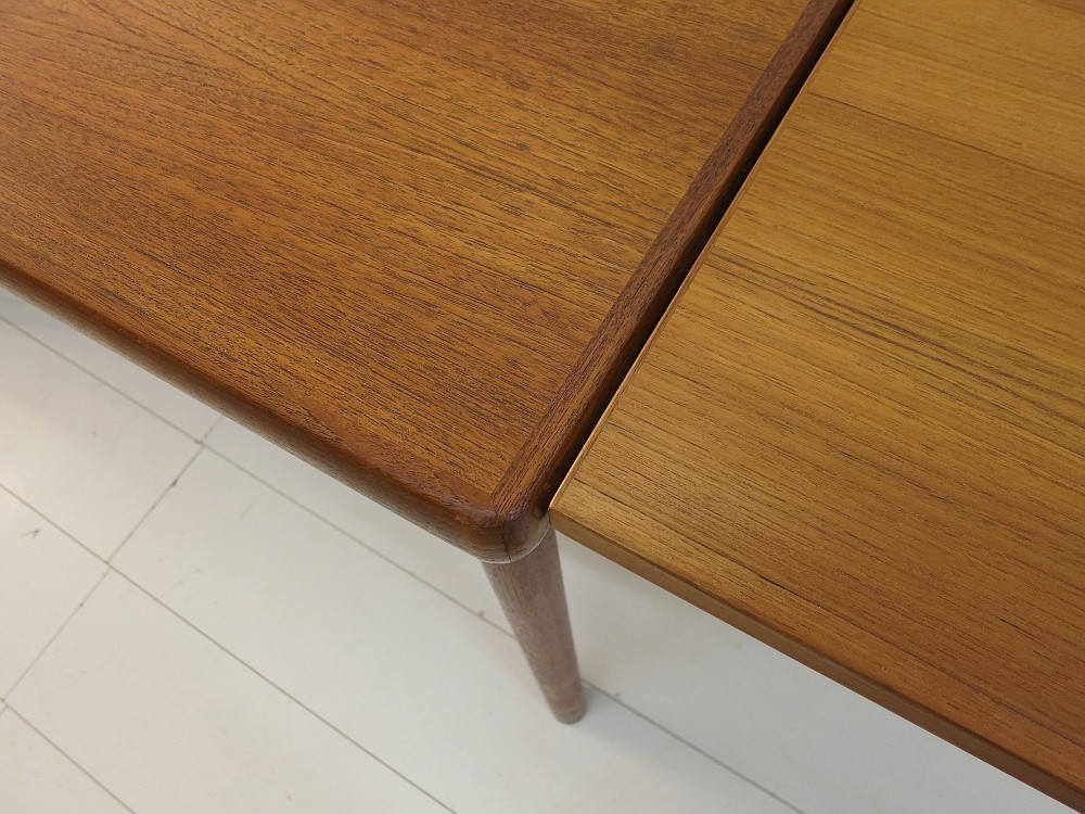 teak esstisch danish design henning kjaernulf 50er 60er jahre ebay. Black Bedroom Furniture Sets. Home Design Ideas
