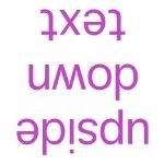 Upside Down Text