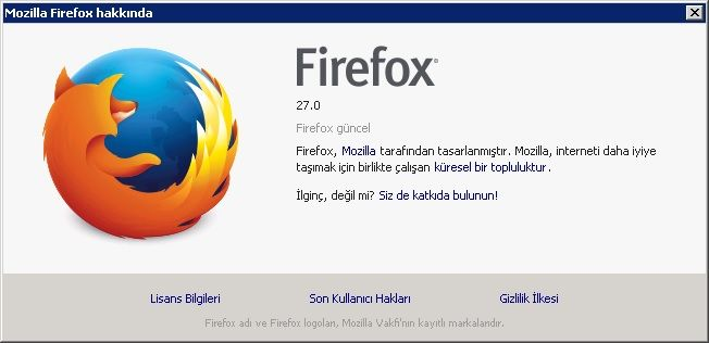 Mozilla Firefox v27.0 Türkçe (Win/Mac/Linux)