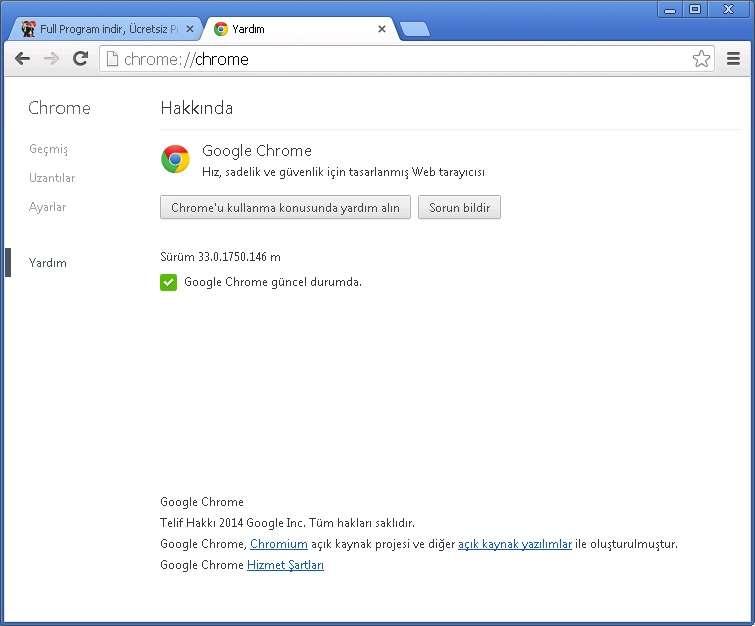 Google Chrome v33.0.1750.146 Türkçe (Win/Mac/Linux)