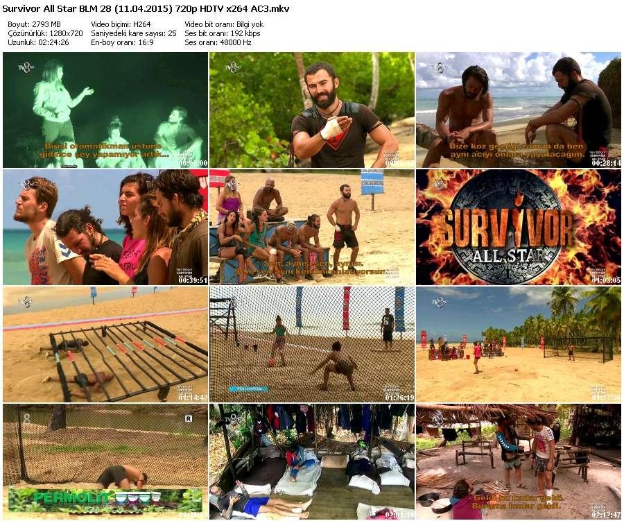 Survivor All Star 28.Bölüm (11.04.2015) 720p HDTV x264 AC3