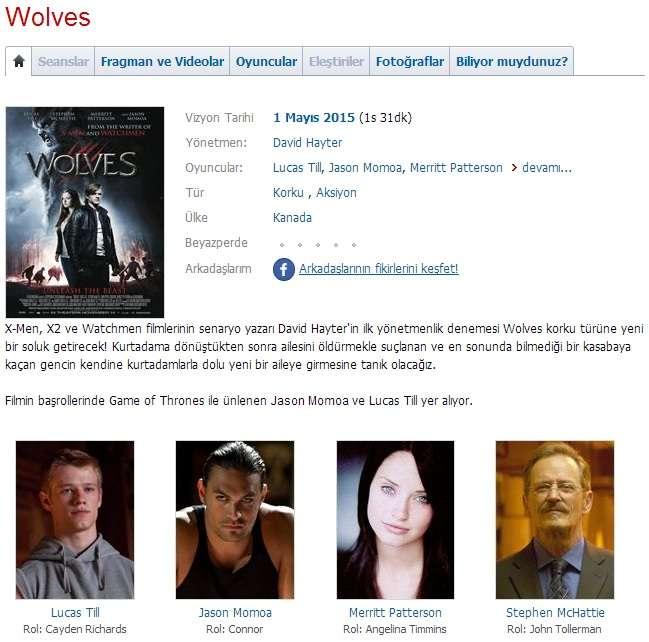 Wolves - 2014 BDRip x264 - Türkçe Altyazılı Tek Link indir