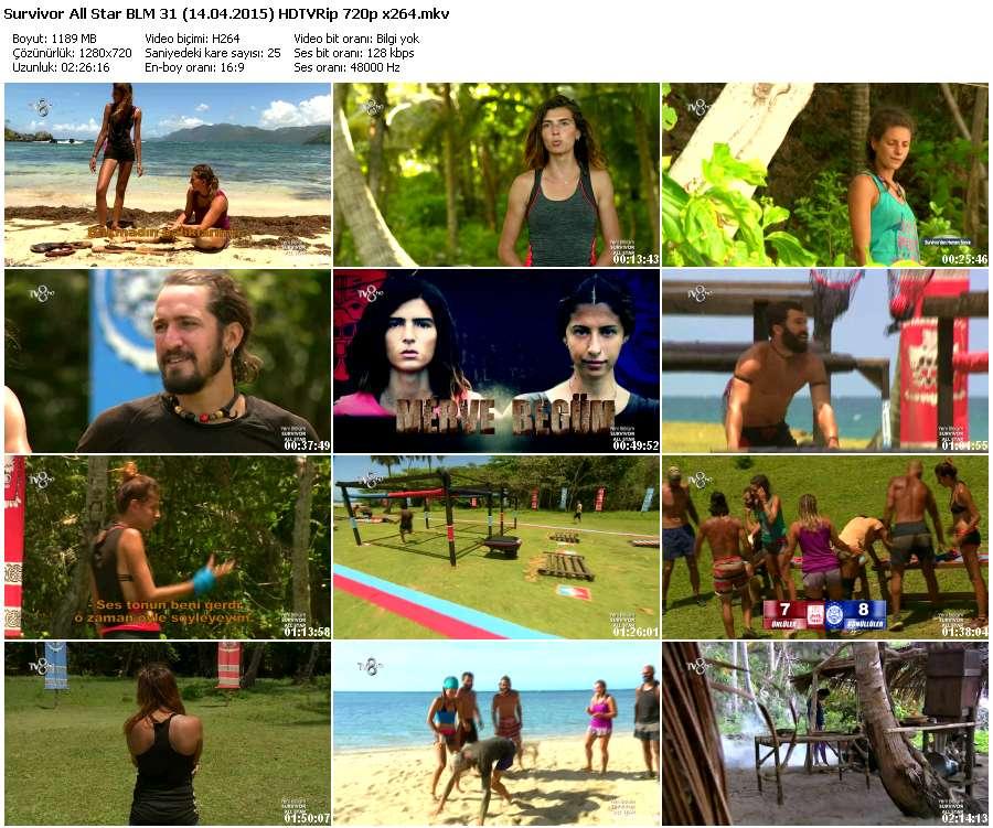Survivor All Star 31.Bölüm (14.04.2015) HDTVRip 720p x264