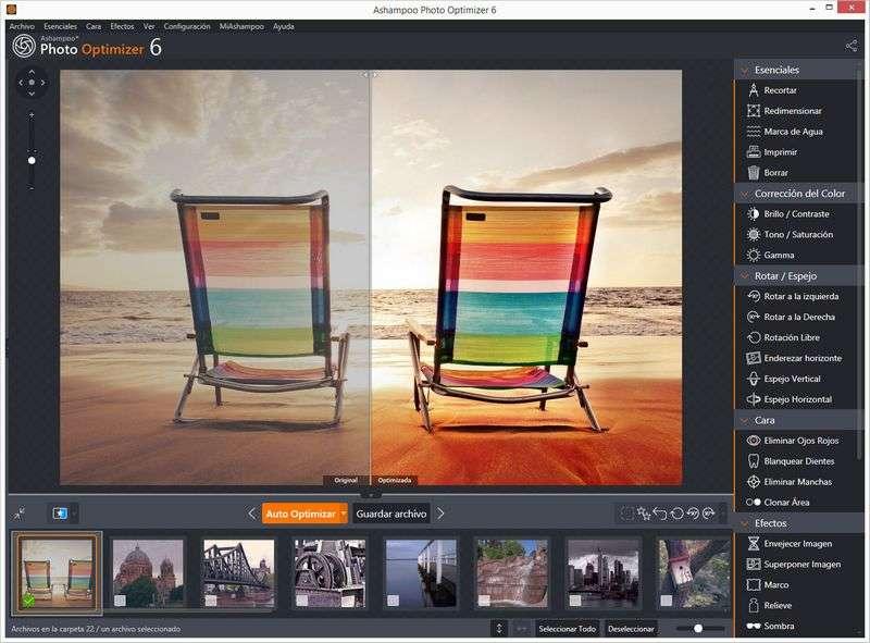 Ashampoo Photo Optimizer mejora tus fotografías en tiempo real