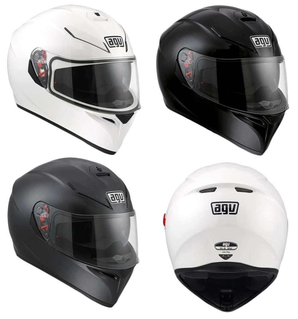 Agv K3 Sv Myth Motorcycle Motorbike Full Face Dvs Helmet Black Grey K3sv Simoncelli Plain White Matt New