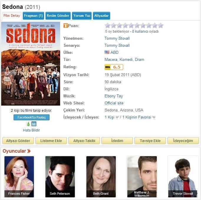 Sedona - 2011 BDRip x264 - Türkçe Altyazılı Tek Link indir