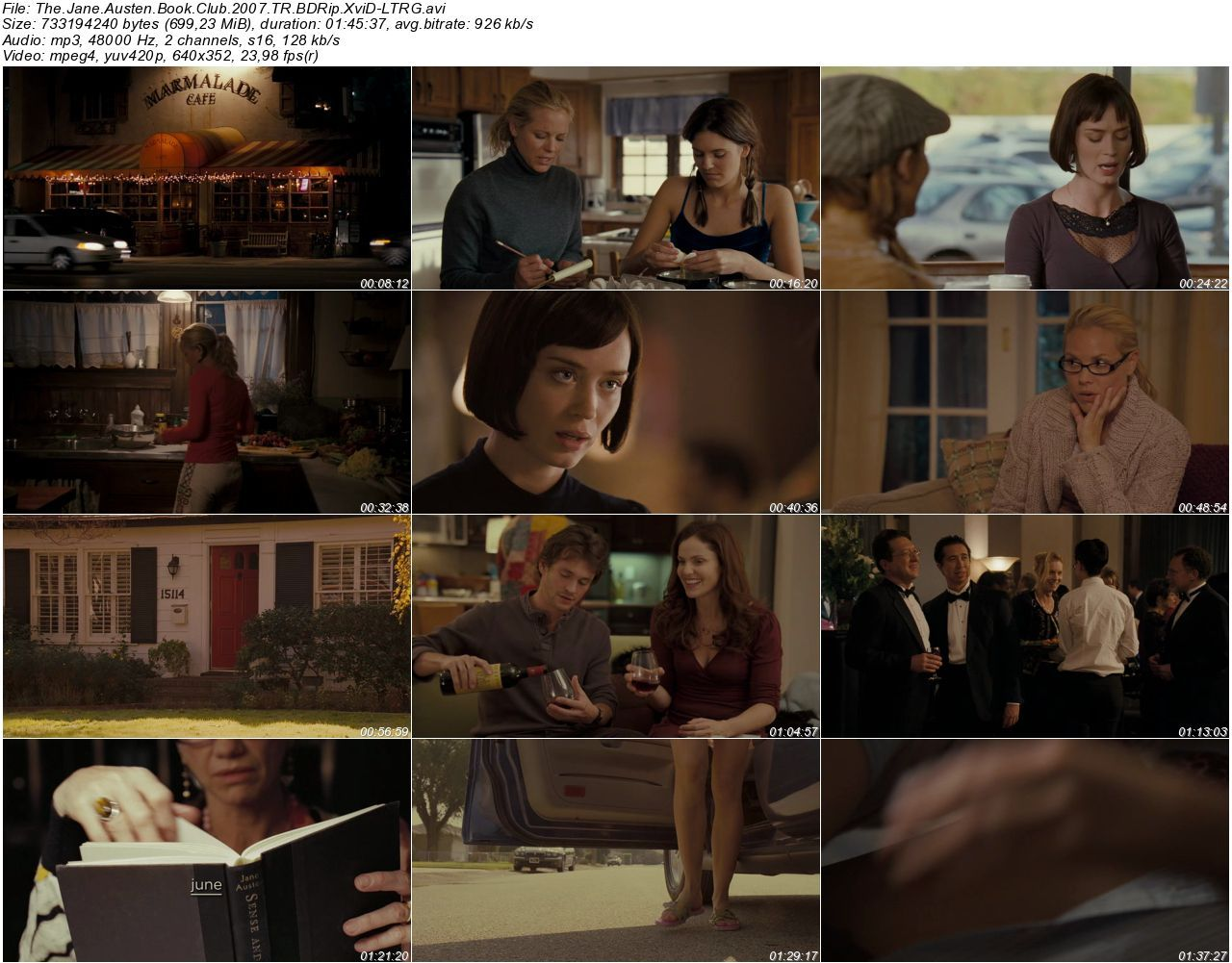 The Jane Austen Book Club - 2007 BDRip XviD - Türkçe Dublaj Tek Link indir